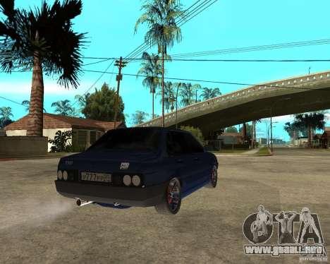 Vaz 21099 sintonía por Danil para GTA San Andreas vista posterior izquierda