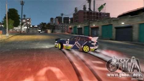 Subaru Impreza WRX STI Rallycross SHOEL Vinyl para GTA 4 vista interior