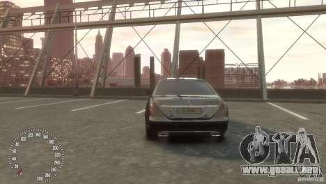 Mercedes-Benz S350 VIP para GTA 4 Vista posterior izquierda