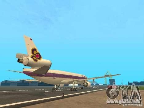 McDonell Douglas  DC 10 Thai Airways para la visión correcta GTA San Andreas