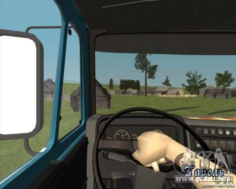 KAMAZ 1840 v2.0 para GTA San Andreas vista hacia atrás