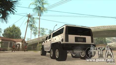 Hummer H6 para GTA San Andreas vista posterior izquierda