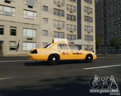 Ford Crown Victoria NYC Taxi 2012 para GTA 4 visión correcta