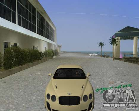 Bentley Continental SS para GTA Vice City vista lateral izquierdo