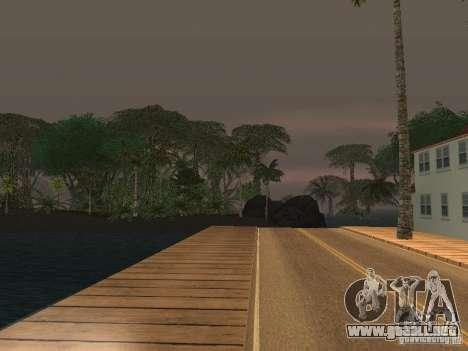 El misterio de las islas tropicales para GTA San Andreas sucesivamente de pantalla