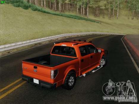 Ford F-150 para visión interna GTA San Andreas