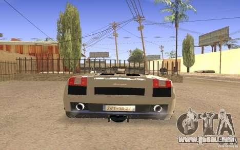 Lamborghini Galardo Spider para visión interna GTA San Andreas