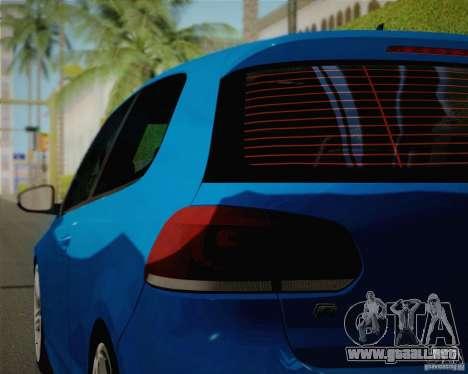 Volkswagen Golf R 2010 para visión interna GTA San Andreas