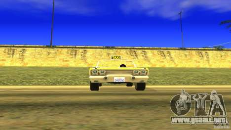 Crazy Taxi - B.D.Joe para la visión correcta GTA San Andreas