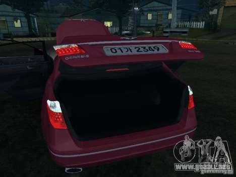 Hyundai Genesis para la vista superior GTA San Andreas