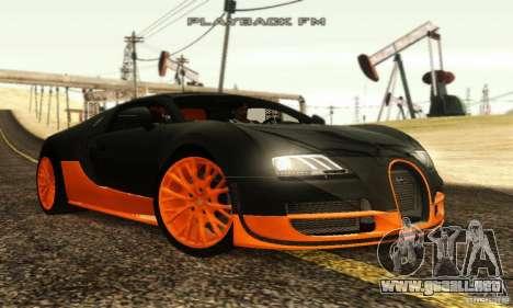 Bugatti Veyron SuperSport para GTA San Andreas vista posterior izquierda