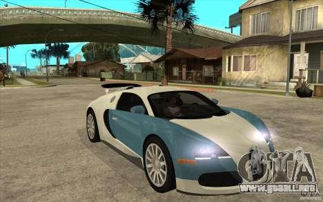 Bugatti Veyron Final para GTA San Andreas vista hacia atrás
