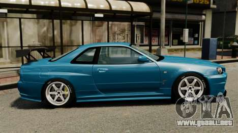 Nissan Skyline R34 2002 v1.1 para GTA 4 left