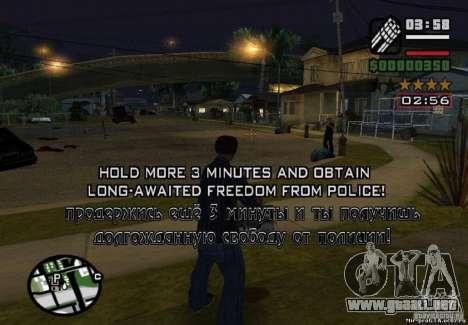 Ganó libertad de policía 1.0 para GTA San Andreas