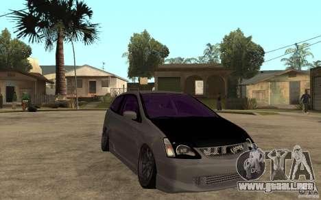 Honda Civic Type-R para GTA San Andreas vista hacia atrás