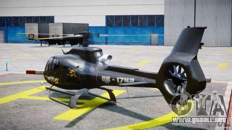 Eurocopter 130 B4 para GTA 4 Vista posterior izquierda