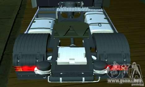 Mercedes-Benz Actros 2012 para visión interna GTA San Andreas
