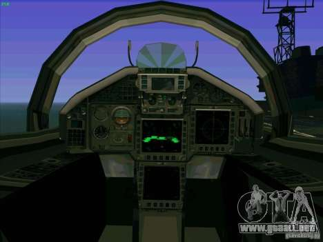 Eurofighter-2000 Typhoon para visión interna GTA San Andreas