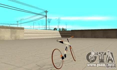 Nulla 2009 Mt Bike para GTA San Andreas vista posterior izquierda