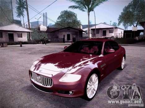 Maserati Quattroporte 2010 para GTA San Andreas left