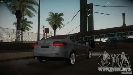 Renault Fluence para la vista superior GTA San Andreas