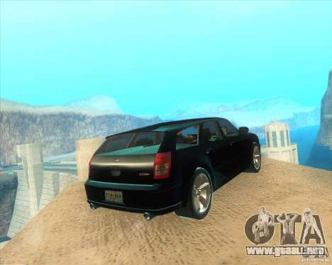 Dodge Magnum RT 2008 v.2.0 para GTA San Andreas vista posterior izquierda
