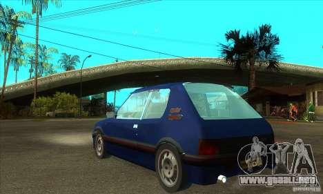 Peugeot 205 GTI para GTA San Andreas vista posterior izquierda