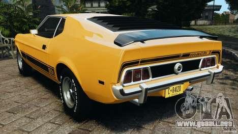Ford Mustang Mach 1 1973 para GTA 4 Vista posterior izquierda