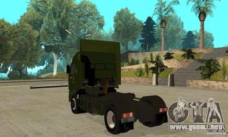 KAMAZ 5460 piel 5 para GTA San Andreas vista posterior izquierda