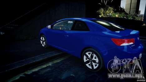 KIA Forte Koup para GTA 4 Vista posterior izquierda