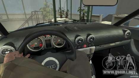 Audi TT 1.8 (8N) para GTA 4 visión correcta