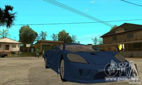 Saleen S7 v1.0 para GTA San Andreas vista hacia atrás