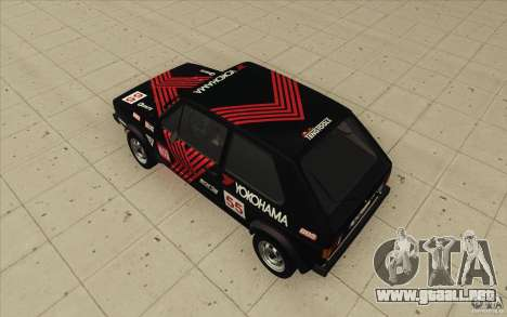 Volkswagen Golf Mk1 - Stock para GTA San Andreas interior