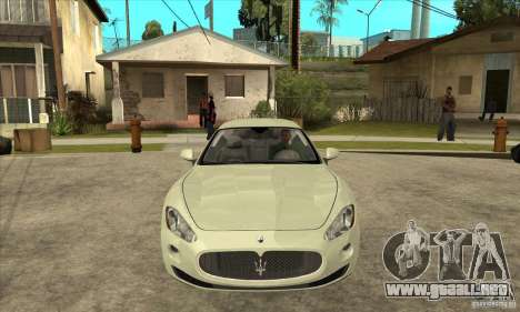 Maserati Gran Turismo 2008 para GTA San Andreas vista hacia atrás
