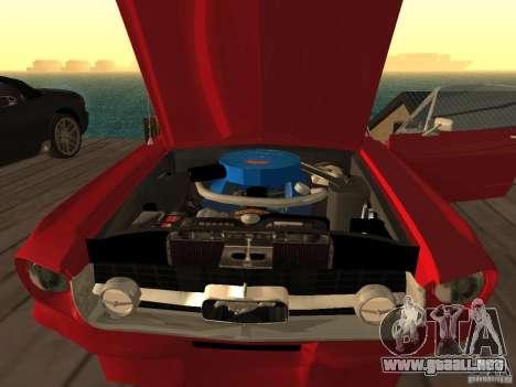 Ford Mustang 67 Custom para GTA San Andreas vista posterior izquierda