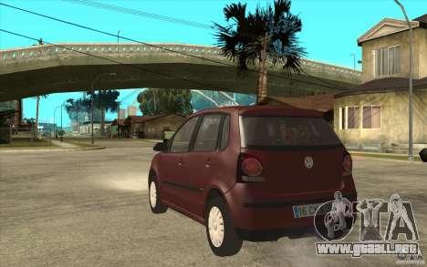 Volkswagen Polo 2006 para GTA San Andreas vista posterior izquierda