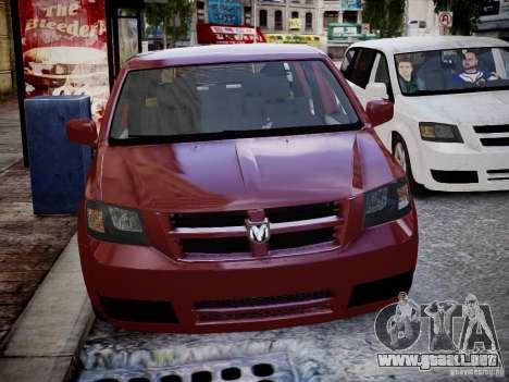 Dodge Grand Caravan SXT 2008 para GTA 4 vista hacia atrás