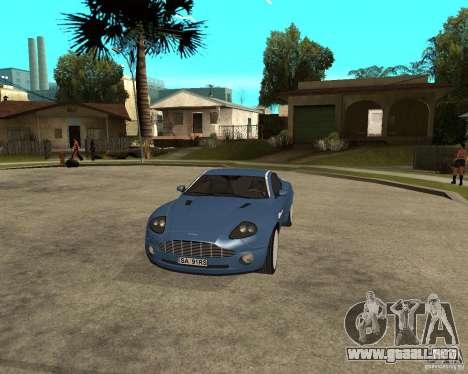 Aston Martin Vanquish para visión interna GTA San Andreas