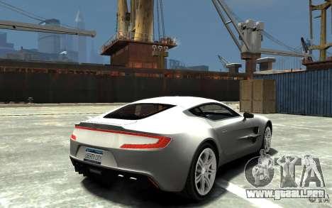 Aston Martin One 77 para GTA 4 visión correcta
