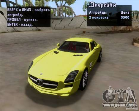 Mercedes-Benz SLS AMG V12 TT Black Revel para vista lateral GTA San Andreas