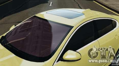 Jaguar XFR 2010 v2.0 para GTA 4 left