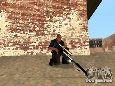 Chrome and Blue Weapons Pack para GTA San Andreas décimo de pantalla