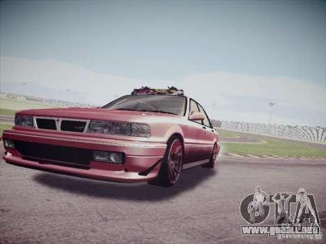 Mitsubishi Galant 1992 JDM para GTA San Andreas vista posterior izquierda