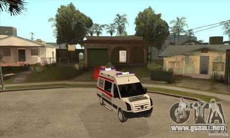 Volkswagen Crafter Ambulance para GTA San Andreas vista hacia atrás