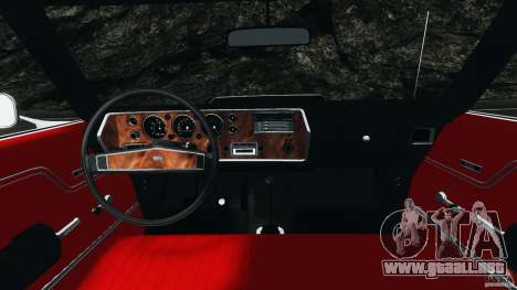 Chevrolet Chevelle SS 1970 v1.0 para GTA 4 vista hacia atrás