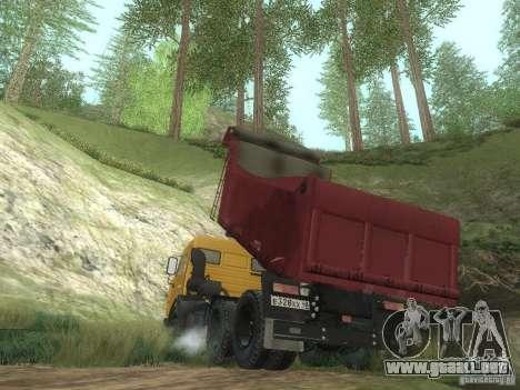 KAMAZ 65115 para la visión correcta GTA San Andreas