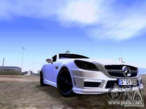 Mercedes-Benz SLK55 AMG 2012 para GTA San Andreas vista posterior izquierda