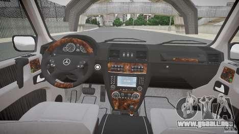 Mercedes Benz G500 (W463) 2008 para GTA 4 vista hacia atrás
