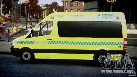 Mercedes-Benz Sprinter PK731 Ambulance [ELS] para GTA 4 left
