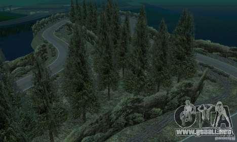 La ruta del rally para GTA San Andreas octavo de pantalla